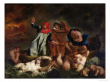 The Barque of Dante, 1822 Giclee Print by Eugene Delacroix