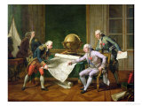 Louis XVI (1754-93) Giving Instructions to La Perouse, 29th June 1785, 1817 Giclee Print by Nicolas Andre Monsiau
