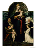 Madonna of the Burgermeister Meyer Giclee Print by Hans Holbein the Younger