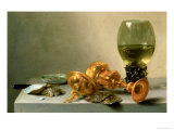 A Still Life with a Roemer and a Gilt Cup Lámina giclée por Pieter Claesz