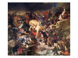 The Battle of Taillebourg, 21st July 1242, 1837 Giclee Print by Eugene Delacroix