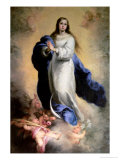 The Immaculate Conception Lámina giclée por Bartolome Esteban Murillo