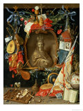 Ecclesia Surrounded by Symbols of Vanity (On Copper) Giclee Print by Jan van Kessel
