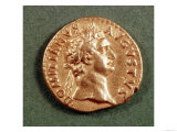 Aureus (Obverse) of Domitian (Ad 81-96) Wearing a Laurel Wreath. Inscription: Domitanvs Avgvstvs Giclee Print
