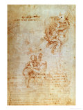Studies of Madonna and Child (Ink) Inv.1859/5014/818 Recto (W.31) Giclee Print by  Michelangelo Buonarroti