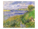 The Banks of the Seine, Champrosay, 1876 Reproduction proc&#233;d&#233; gicl&#233;e par Pierre-Auguste Renoir
