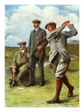 (Ltor) John Henry Taylor (1871-1963), James Braid (1870-1950), and Harry Vardon (1870-1937) Giclee Print by Clement Flower