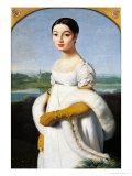 Portrait of Mademoiselle Caroline Riviere (1793-1803) 1805 Giclée-Premiumdruck von Jean-Auguste-Dominique Ingres