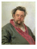 Portrait of Modest Petrovich Moussorgsky (1839-81) 1881 Reproduction proc&#233;d&#233; gicl&#233;e par Ilya Efimovich Repin