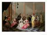 An Elegant Company at Music Before a Banquet Giclee Print by Hieronymus Janssens