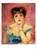 Portrait of the Actress Jeanne Samary, 1877 (Study) Reproduction proc&#233;d&#233; gicl&#233;e par Pierre-Auguste Renoir