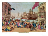 Portsmouth Point, 1811 Premium Giclee Print by Thomas Rowlandson