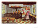 Kitchen of the Hotel St.Lucas, in the Hoogstraat, Rotterdam, 1834 Giclee Print by Mary Ellen Best