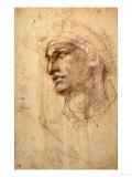 Study of a Head (Charcoal) Inv.1895/9/15/498 (W.1) Giclée-Druck von  Michelangelo Buonarroti