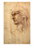 Study of a Head (Charcoal) Inv.1895/9/15/498 (W.1) Giclee Print by  Michelangelo Buonarroti