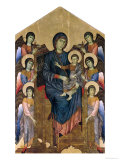 The Virgin and Child in Majesty Surrounded by Six Angels, circa 1270 Giclée-tryk af Cimabue