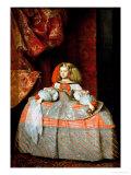 The Infanta Maria Marguerita (1651-73) in Pink Gicléedruk van Diego Velázquez
