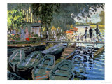 Bathers at La Grenouillere, 1869 Reproduction procédé giclée par Claude Monet