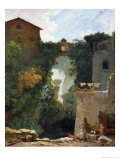 The Falls of Tivoli Premium Giclee Print by Jean-Honoré Fragonard
