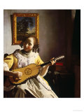 The Guitar Player, circa 1672 Giclee Print by Jan Vermeer