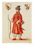 Marco Polo (1254-1324) Dressed in Tartar Costume Reproduction proc&#233;d&#233; gicl&#233;e par Jan van Grevenbroeck