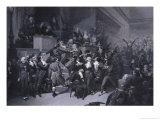 The Ninth Thermidor, circa 1840 Giclee Print by Raymond Quinsac Monvoisin