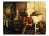 Mending Clothes Giclee Print by Walter Langley