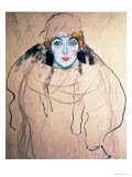 Head of a Woman Premium Giclee Print by Gustav Klimt
