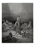 "Arachne, from the 12th Canto of Dante's ""Purgatory"" Giclee Print by Gustave Doré"