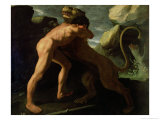 Hercules Fighting with the Nemean Lion Giclee Print by Francisco de Zurbarán