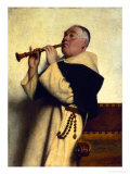 Monk Playing a Clarinet Giclee Print by Ture Nikolaus Cederstrom