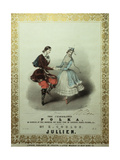 The Celebrated Polka, Song Sheet, 1840 Giclee Print by John Brandard