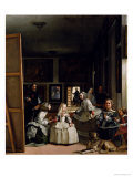 Las Meninas or the Family of Philip IV, circa 1656 Giclée-tryk af Diego Velázquez