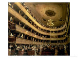 The Auditorium of the Old Castle Theatre, 1888 Impressão giclée por Gustav Klimt