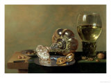A Still Life with Glass of Wine, Tazza and a Pewter Plate Giclee Print by Hans van Sant