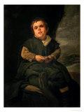 "The Court Dwarf, Don Franciso Lezcano Called ""El Nino De Vallecas,"" 1637 Giclee Print by Diego Velázquez"