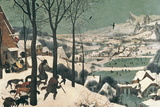Hunters in the Snow, February, 1565 Premium Giclee Print by Pieter Bruegel the Elder