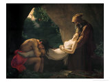 The Tomb of Atala, 1808 Giclée-tryk af Anne-Louis Girodet de Roussy-Trioson