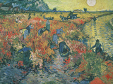 Red Vineyards at Arles, 1888 Giclee Print by Vincent van Gogh