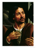 Self Portrait Giclée-tryk af Domenico Ghirlandaio