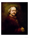 Self Portrait in at the Age of 63, 1669 Premium Giclee Print by  Rembrandt van Rijn