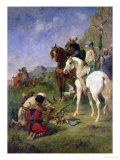 A Falcon Hunt in Algeria: the Quarry, Before 1863 Premium Giclee Print by Eugene Fromentin