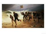 The Rescue Giclee Print by Maurice Poirson