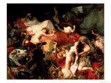 The Death of Sardanapalus, 1827 Giclée-tryk af Eugene Delacroix