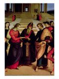 The Marriage of the Virgin, 1504 Reproduction proc&#233;d&#233; gicl&#233;e par Raphael 
