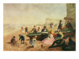 A Seaside Scene Giclee Print by Jane Maria Bowkett