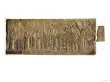 Banquet of Ashurbanipal, Gypsum Carving from North Palace, Nineveh, circa 640Bc Giclee Print