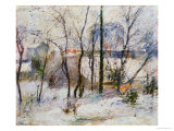 Garden under Snow, 1879 Giclee Print by Paul Gauguin