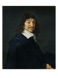 Portrait of Rene Descartes (1596-1650) C.1649 (Oil on Canvas) Giclée-Druck von Frans Hals