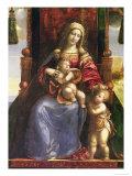 Detail of Polyptychon, Virgin & Child with Infant St.John, (Altarpiece) Giclée-tryk af Dosso Dossi